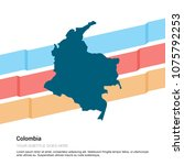 colombia map design with white... | Shutterstock .eps vector #1075792253