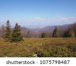 panorama of beskid mountains... | Shutterstock . vector #1075798487
