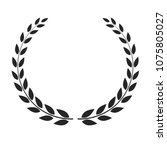 vector laurel wreath placed on... | Shutterstock .eps vector #1075805027