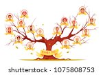 family tree with pictures of... | Shutterstock .eps vector #1075808753