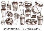 street food festival menu.... | Shutterstock . vector #1075813343