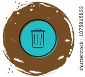 rubbish bin icon vector...   Shutterstock .eps vector #1075815833