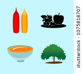 icons about food with summer ... | Shutterstock .eps vector #1075818707