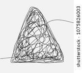 tangle scrawl sketch vector.... | Shutterstock .eps vector #1075826003