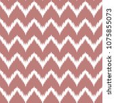 ethnic pink and white zig zag...   Shutterstock .eps vector #1075855073