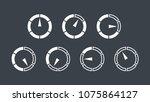 info graphic gauge elements.... | Shutterstock .eps vector #1075864127