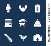 premium set with fill icons.... | Shutterstock .eps vector #1075864847