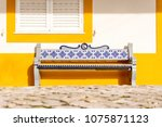 bench decorated with...   Shutterstock . vector #1075871123