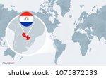 world map centered on america... | Shutterstock .eps vector #1075872533