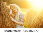 pretty young woman in summer | Shutterstock . vector #107587877