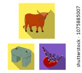 country scotland flat icons in... | Shutterstock .eps vector #1075885007