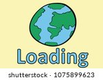 earth and inscription loading   Shutterstock .eps vector #1075899623