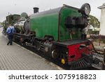 Small photo of Porthmadog Wales UK - September 4 2017: Ex South African Railways NGG16 class narrow gauge Beyer Peacock steam locomotive number NG143 operated on the Welsh Highland Railway