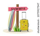 summer holidays vector... | Shutterstock .eps vector #1075927547