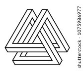 valknut knot impossible isometry | Shutterstock .eps vector #1075986977