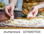 Small photo of chef cooking food cutting prepare hands knife preparing vegetables