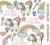 doodle seamless pattern with...   Shutterstock .eps vector #1076010143