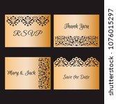laser cut card templates.... | Shutterstock .eps vector #1076015297