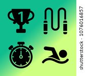 vector icon set about fitness... | Shutterstock .eps vector #1076016857
