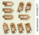set of stickers for sale on... | Shutterstock .eps vector #107606177