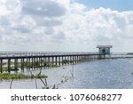amazing landscape of bridge on... | Shutterstock . vector #1076068277