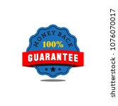 guarantee badge seal stamp... | Shutterstock .eps vector #1076070017
