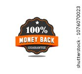 guarantee badge seal stamp... | Shutterstock .eps vector #1076070023