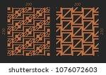 laser cutting interior set....   Shutterstock .eps vector #1076072603