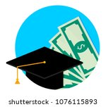 scholarship or study grant icon ... | Shutterstock .eps vector #1076115893