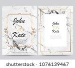 elegant creative business cards ... | Shutterstock .eps vector #1076139467