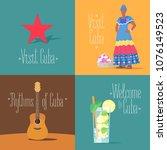 set of vector illustrations... | Shutterstock .eps vector #1076149523