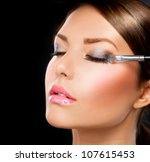 Постер, плакат: Makeup Make up Eyeshadows Eye shadow brush