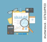 financial document with graphs... | Shutterstock . vector #1076169923