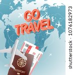 go travel concept. vector... | Shutterstock .eps vector #1076182973
