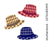 stylish hat icon. fedora hats... | Shutterstock .eps vector #1076185493