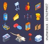 museum isometric icons... | Shutterstock .eps vector #1076199857