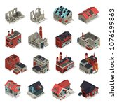 abandoned buildings isometric... | Shutterstock .eps vector #1076199863