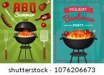 barbecue grill elements set... | Shutterstock .eps vector #1076206673