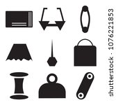 set of 9 simple editable icons... | Shutterstock .eps vector #1076221853
