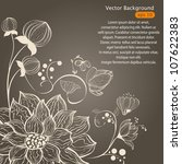 vector floral background | Shutterstock .eps vector #107622383
