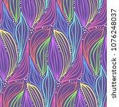 abstract magic purple seamless... | Shutterstock .eps vector #1076248037