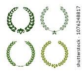 set of laurel wreaths. heraldic ... | Shutterstock .eps vector #1076248817