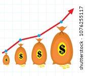 financial performance ... | Shutterstock .eps vector #1076255117