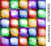 seamless multicolored diamond... | Shutterstock .eps vector #1076280833
