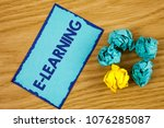 word writing text e learning....   Shutterstock . vector #1076285087