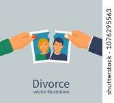 divorce concept. break up. man...   Shutterstock .eps vector #1076295563