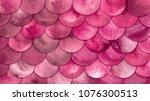 magic mermaid bright pink color ... | Shutterstock . vector #1076300513