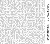 computer circuit board.... | Shutterstock .eps vector #1076352497