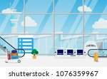 view of space in the airport... | Shutterstock .eps vector #1076359967