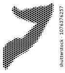 halftone hexagonal somalia map. ... | Shutterstock .eps vector #1076376257